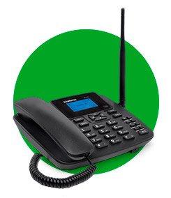 O telefone celular fixo CF 4202 é ideal para locais onde o sinal de celular é fraco
